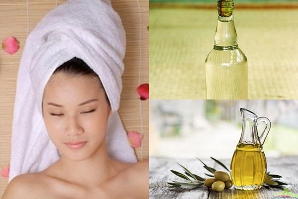 Ủ tóc với rượu và dầu oliu trị chấy rận tận gốc