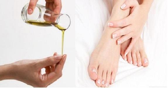 Dầu oliu và sản phẩm giúp tri nứt gót chân hiệu quả từ thiên nhiên
