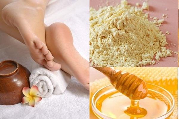 Cách chữa nứt gót chân hiệu quả với bột cám gạo