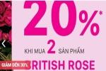 Từ 16/02 – 15/03/2017, The Body Shop ưu đãi giảm giá 30% nhiều dòng sản phẩm