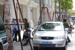 UBND Q.1 ra quân xử phạt xe biển số xanh