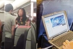 Đi máy bay: Người đánh ghen bổ guốc vào mặt nhau, kẻ tranh thủ xem phim