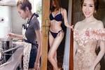"""Mỹ nhân và hot girl Việt ở nhà khác """"một trời một vực"""" với lên hình"""