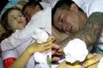 Xót xa cảnh người chồng trẻ nằm ôm chặt thi thể vợ không rời trước lúc khâm liệm