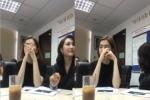 Ngồi cạnh Phi Thanh Vân trong lớp học, Ngọc Trinh có thái độ biểu cảm kỳ lạ khiến ai cũng sốc