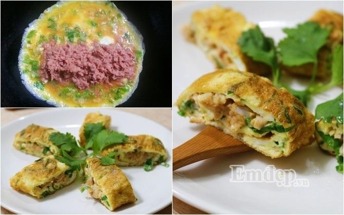 Trứng cuộn cá ngừ chiên đơn giản, ngon tuyệt - Ảnh 1