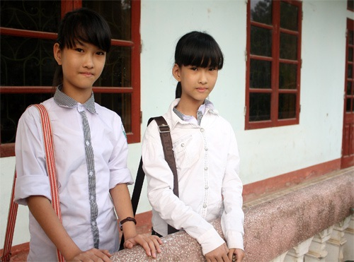 Hiện tại, Cúc - An đã là hai thiếu nữ xinh xắn, học giỏi và khỏe mạnh - Ảnh: Internet