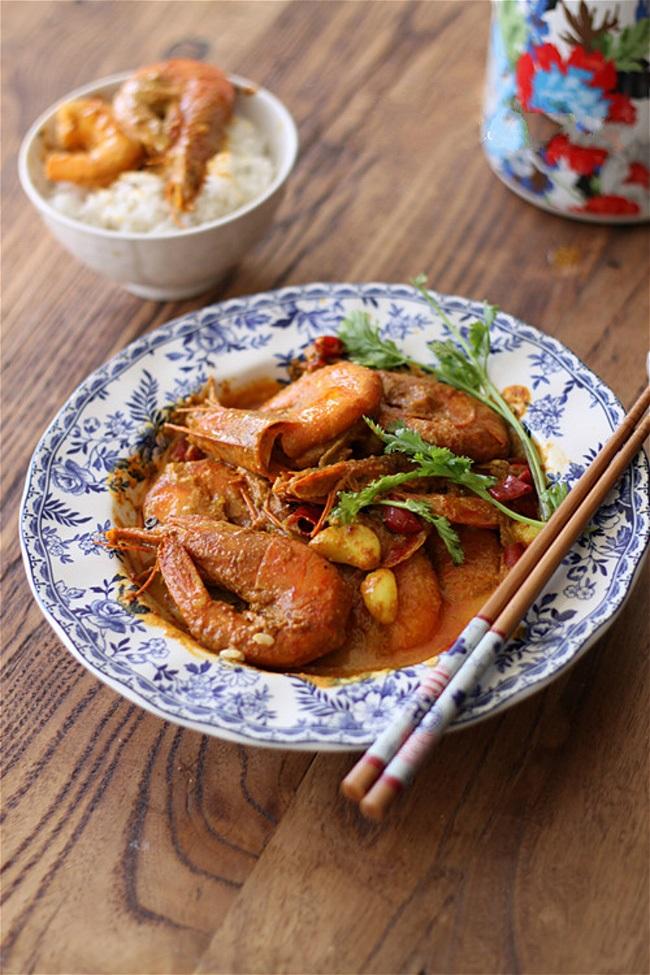Thơm lừng khó cưỡng món tôm nấu cà ri - Ảnh 5