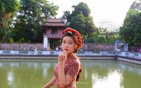 Xuất hiện cô đồ xinh xắn, cho chữ thư pháp tại Bắc Giang - Ảnh 7