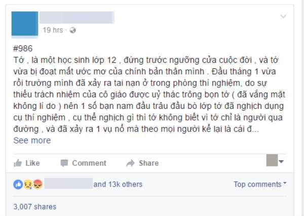 Confessions đau đớn của một nữ sinh trường THPT Phan Đình Phùng bị bỏng nặng vì bạn học gây nổ ở phòng thực hành Hóa - Ảnh 1