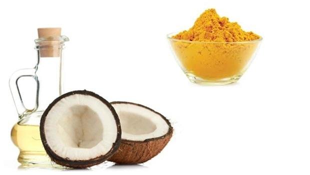 Chăm sóc da mặt sau sinh bằng dầu dừa và nghệ