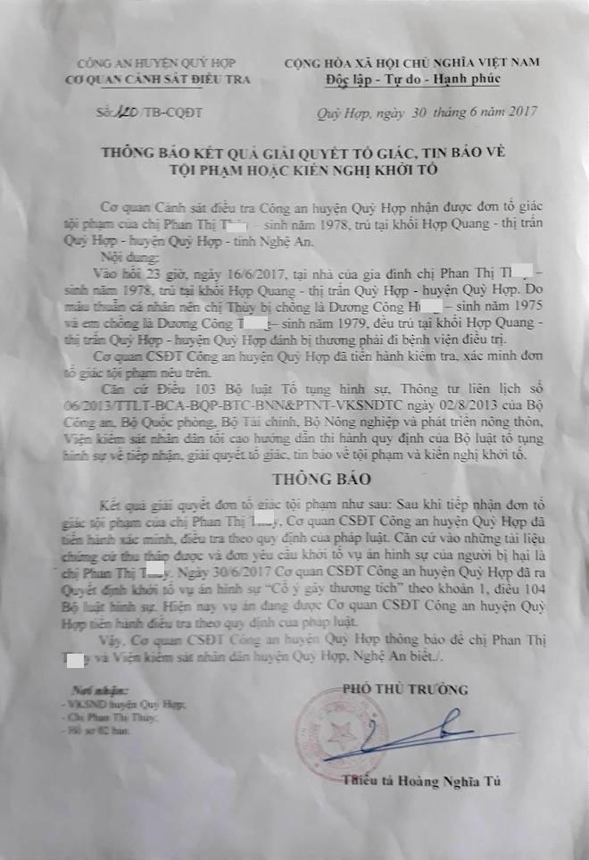 Chị dâu tố bị em chồng là Phó Chủ tịch HĐND thị trấn đánh trọng thương - Ảnh 2