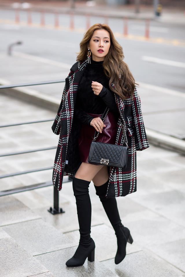 Học Kỳ Duyên, Chi Pu cách diện váy ngắn ngày đông vừa  điệu vừa ấm  - Ảnh 4