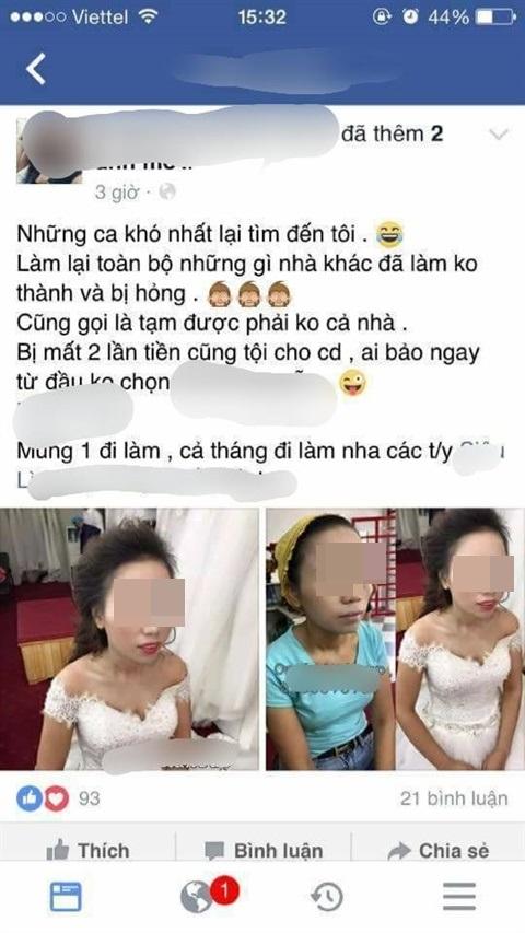 Cho rằng ảnh cưới chụp mình quá xấu, cô dâu cao 1m50, nặng 38kg không chịu lấy ảnh khiến thợ chụp hình đau đầu - Ảnh 4