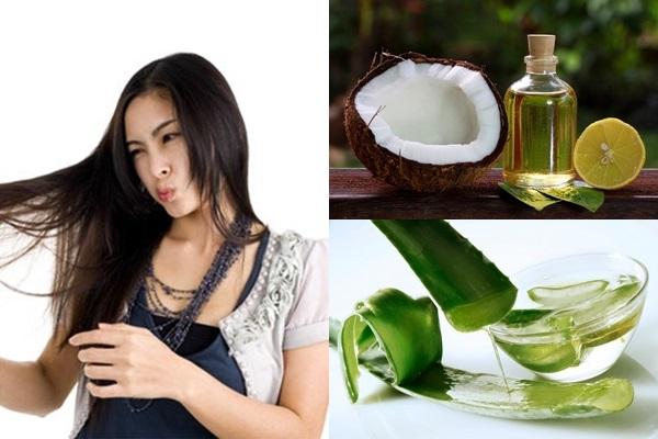 Nha đam, chanh, dầu dừa giúp trị rụng tóc sau sinh hiệu quả