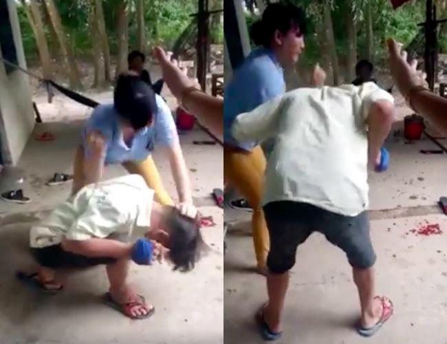 Clip: Ghen tuông, vợ 'hổ báo' đánh đấm chồng dã man trước mặt nhiều người - Ảnh 2
