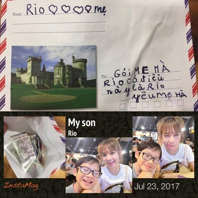 Bà xã Lý Hải sung sướng 'muốn vỡ tim' khi nhận quà 'độc' từ con trai 6 tuổi - Ảnh 1