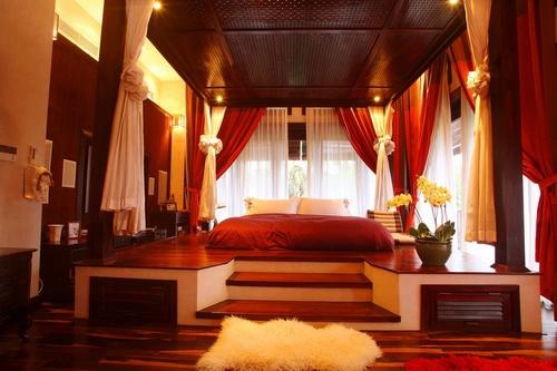 Phòng ngủ với gam màu ấm áp