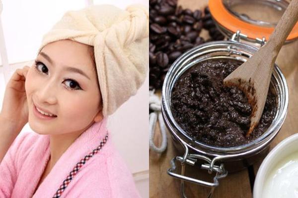 Ủ tóc bằng bã cà phê giúp trị rụng tóc hiệu quả