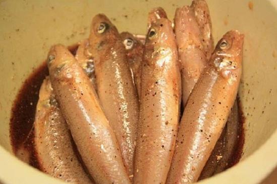 Ướp cá bống cho thấm vị trước khi đem kho tiêu