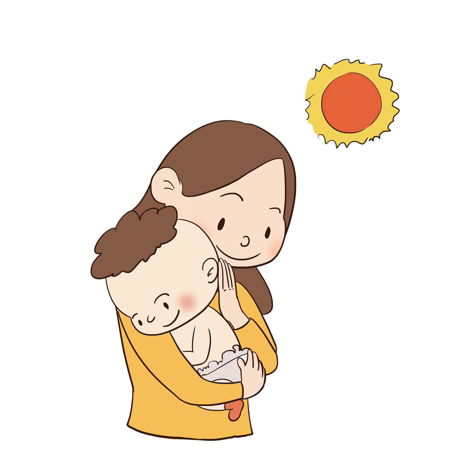 Thói quen ẵm bồng quá nhiều cũng khiến cột sống của trẻ dễ bị xiêu vẹo