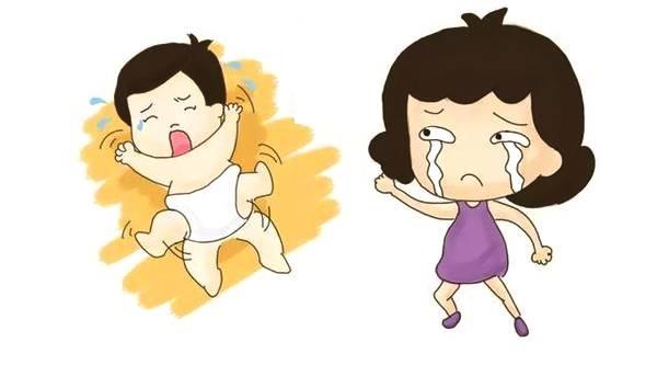 Bé thường khóc quấy và tìm vú mẹ cho thấy lượng sữa không đủ