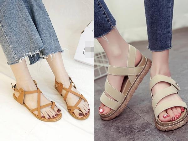 Thấy sandals là thấy hè về nên sẽ rất thiếu sót nếu tủ giày của chị em không có sự hiện diện của một vài đôi