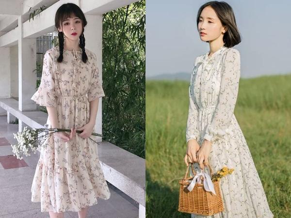 Phái nữ có thể diện váy hoa khi trời vào thu, sang xuân nhưng rõ ràng, mùa hè chính là khoảng thời gian hoàn hảo nhất để diện item đậm chất bánh bèo này