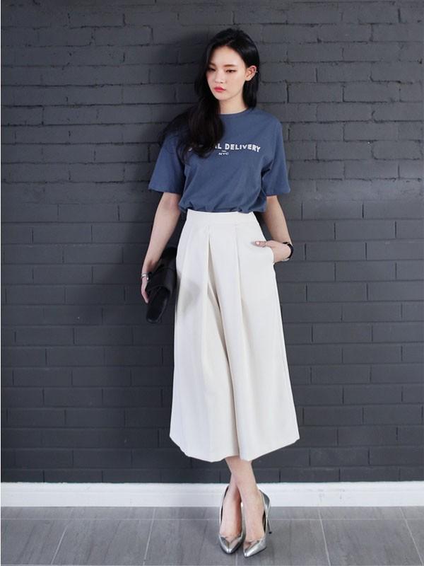 Cách phối đồ với quần culottes ngắn, chuẩn xu hướng thời trang đang hot nhất 2019  - Ảnh 5