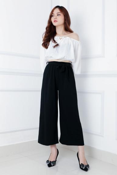 Cách phối đồ với quần culottes ngắn, chuẩn xu hướng thời trang đang hot nhất 2019  - Ảnh 11