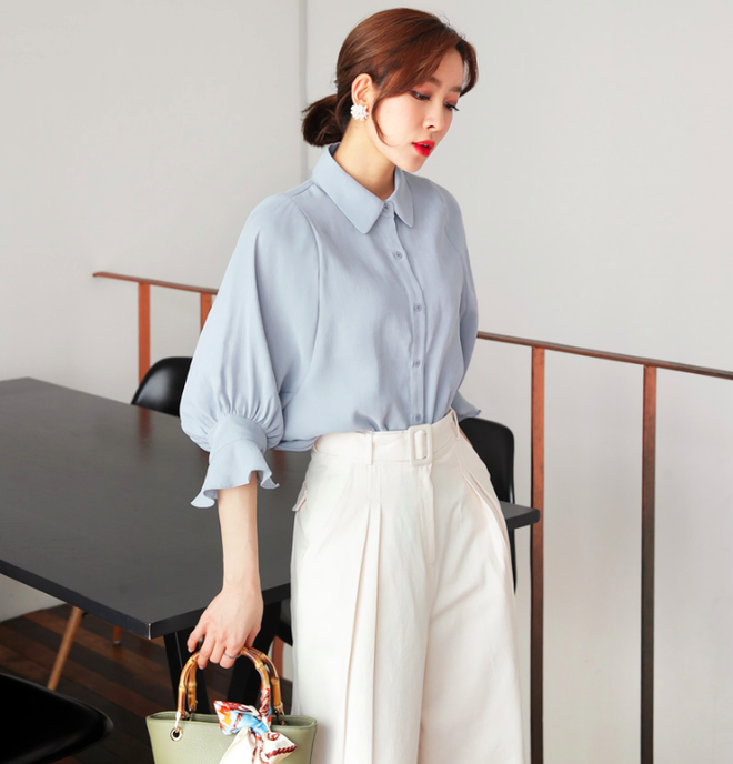 Cách phối đồ với quần culottes ngắn, chuẩn xu hướng thời trang đang hot nhất 2019  - Ảnh 15