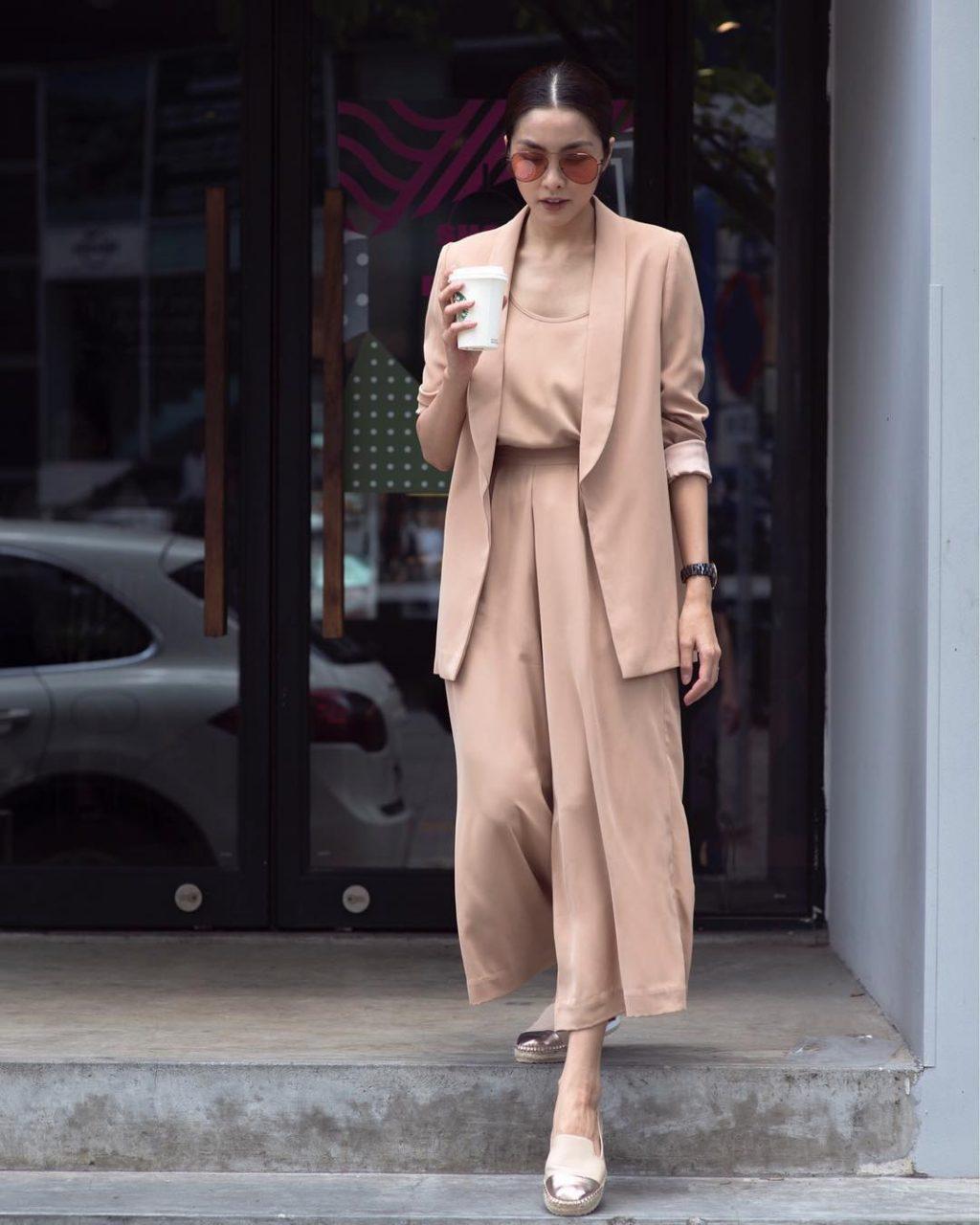 Cách phối đồ với quần culottes ngắn, chuẩn xu hướng thời trang đang hot nhất 2019  - Ảnh 16