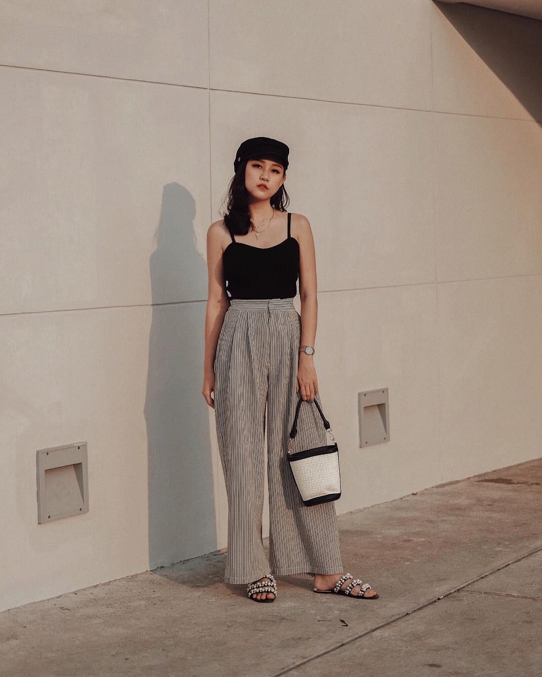 Cách phối đồ với quần culottes ngắn, chuẩn xu hướng thời trang đang hot nhất 2019  - Ảnh 10