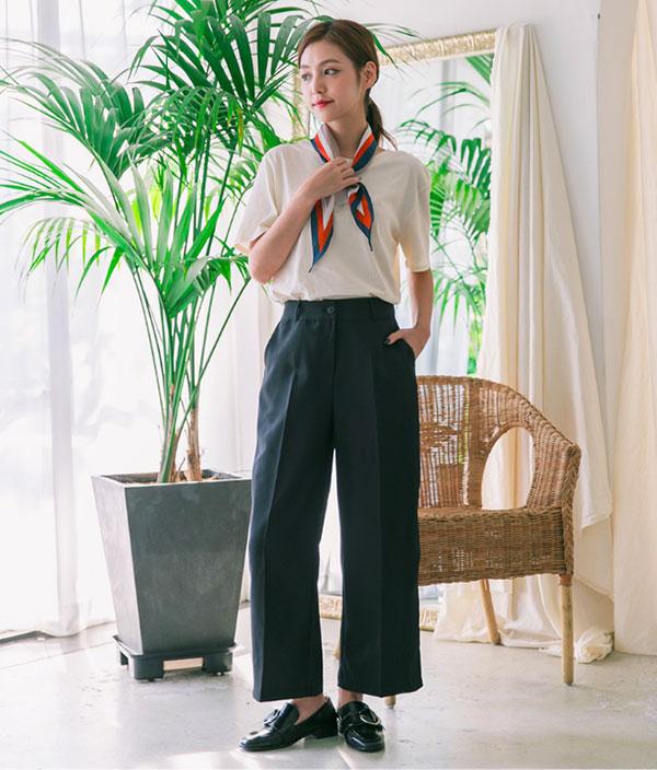 Cách phối đồ với quần culottes ngắn, chuẩn xu hướng thời trang đang hot nhất 2019  - Ảnh 6