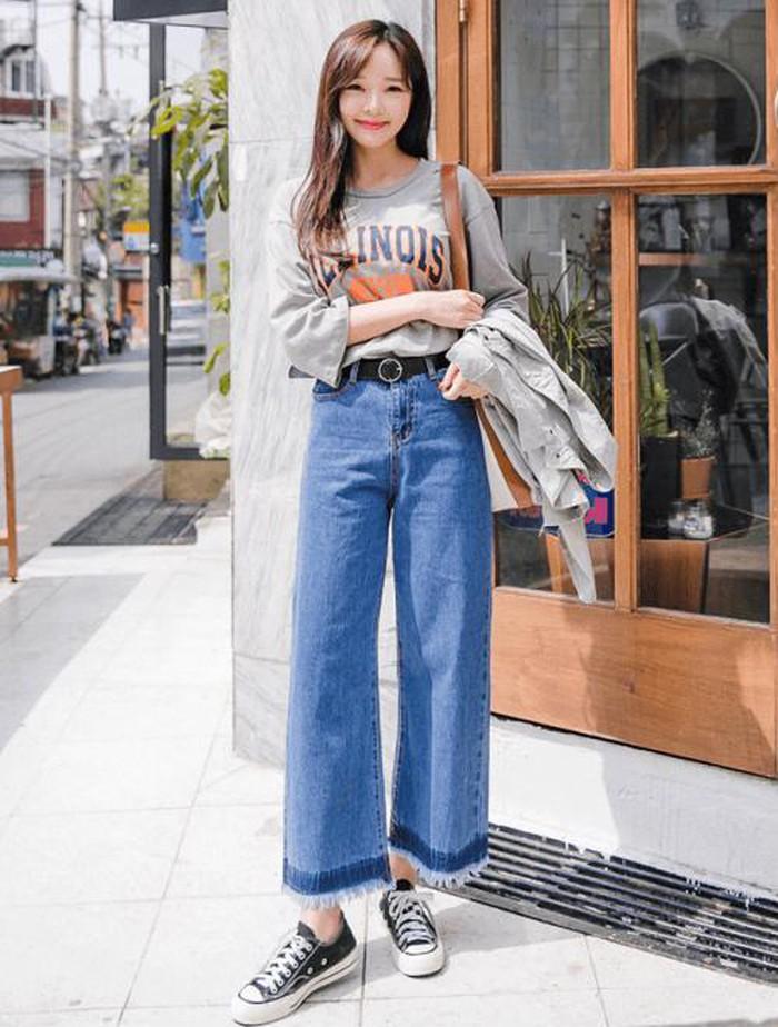 Cách phối đồ với quần culottes ngắn, chuẩn xu hướng thời trang đang hot nhất 2019  - Ảnh 13