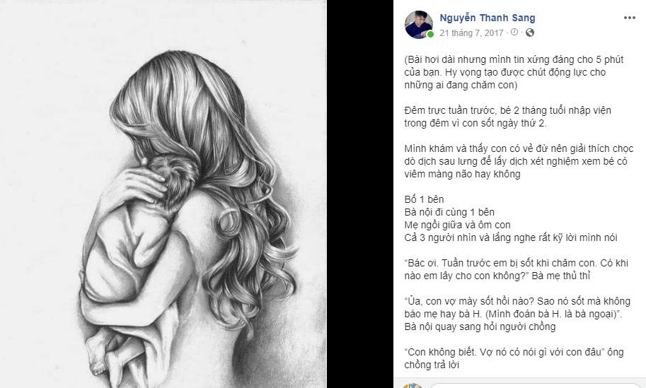Lời nhắn nhủ 'đừng đổ lỗi khi con ốm' của 'bác sĩ yêu con nít' khiến hàng nghìn bà mẹ Việt rơi nước mắt - Ảnh 1