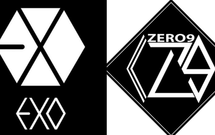 logo của nhóm Zero 9 có nhiều điểm tương đồng với logo của EXO,