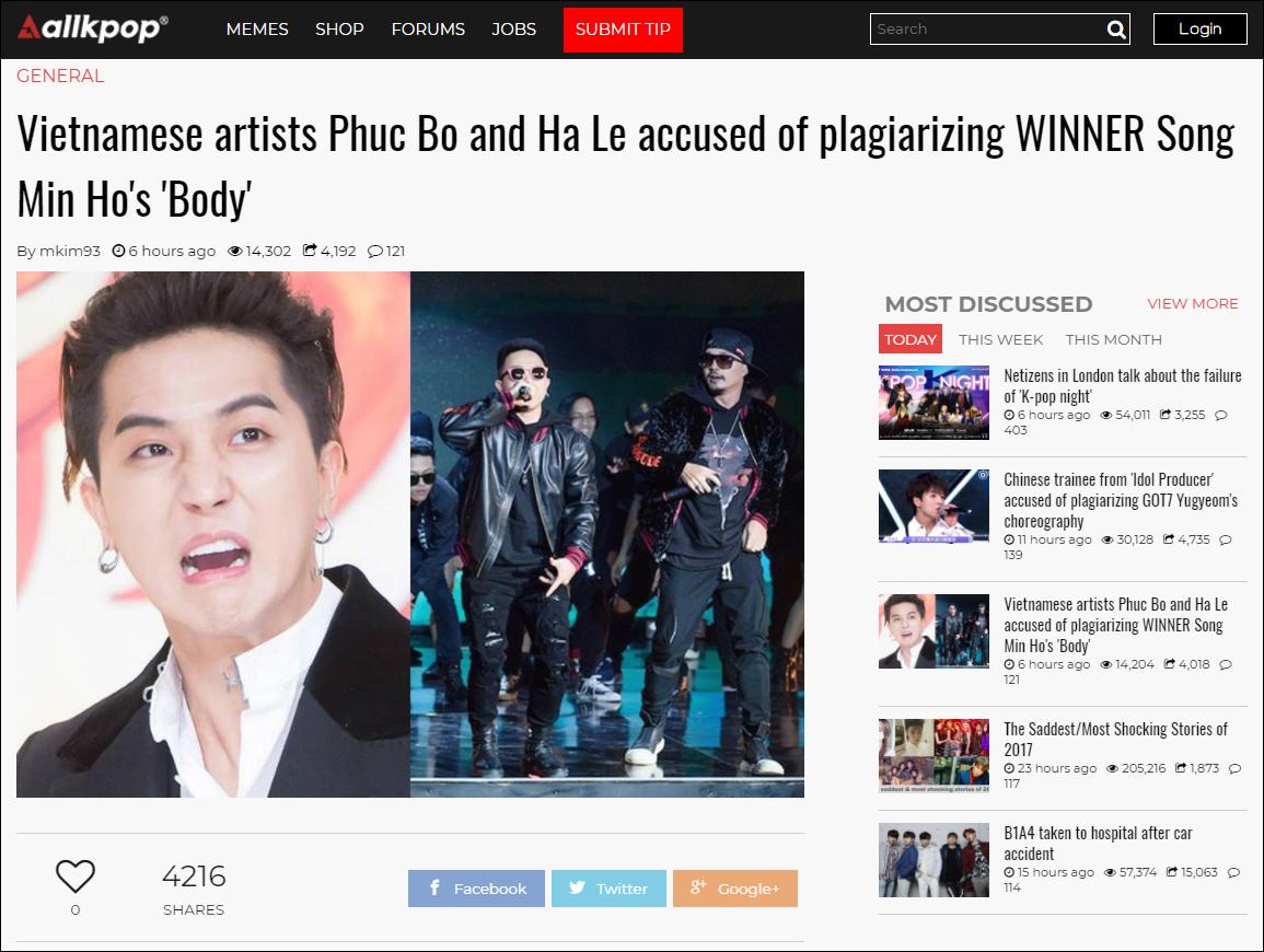 Báo Hàn cũng đưa tin về vụ việc