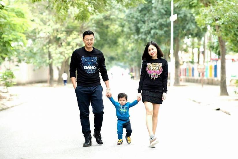 Gia đình hạnh phúc của nam MC hiện tại