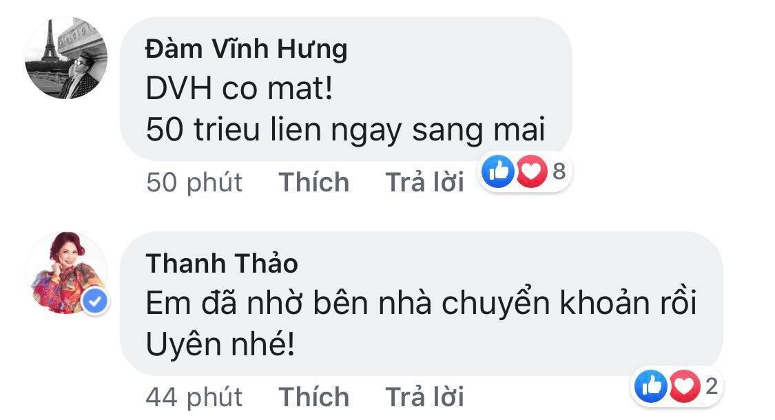 àm Vĩnh Hưng, Thanh Thảo cũng sẵn sàng ra tay hỗ trợ -