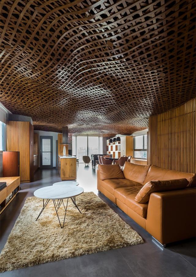 Căn chung cư ở Sài Gòn gây ngỡ ngàng với trần nhà tạo hình những đám mây - Ảnh 2