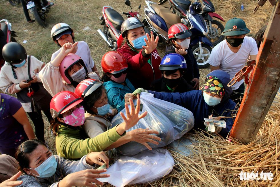 Người Sài Gòn xếp hàng 'giải cứu' dưa hấu, có người mua cả tấn làm từ thiện - Ảnh 3