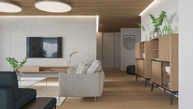 Căn hộ chung cư đẹp mỹ mãn nhờ nội thất gỗ biến tấu - Ảnh 2