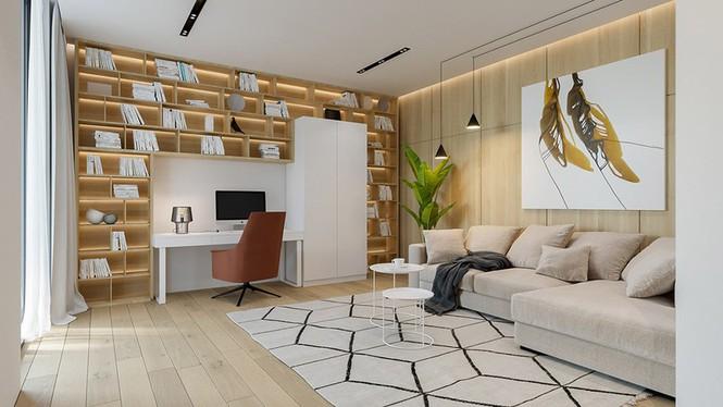 Căn hộ chung cư đẹp mỹ mãn nhờ nội thất gỗ biến tấu - Ảnh 3