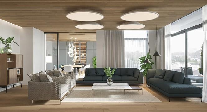 Căn hộ chung cư đẹp mỹ mãn nhờ nội thất gỗ biến tấu - Ảnh 1