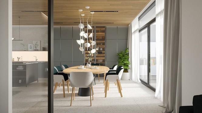 Căn hộ chung cư đẹp mỹ mãn nhờ nội thất gỗ biến tấu - Ảnh 4