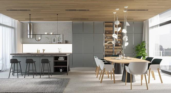 Căn hộ chung cư đẹp mỹ mãn nhờ nội thất gỗ biến tấu - Ảnh 5