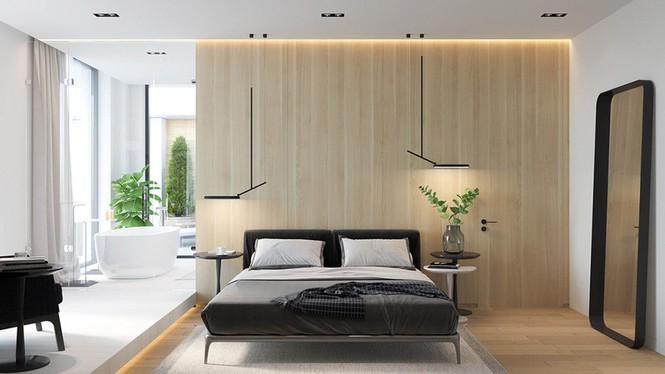 Căn hộ chung cư đẹp mỹ mãn nhờ nội thất gỗ biến tấu - Ảnh 6