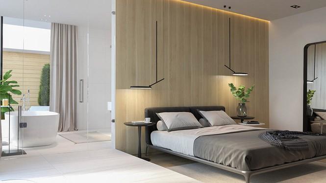 Căn hộ chung cư đẹp mỹ mãn nhờ nội thất gỗ biến tấu - Ảnh 7