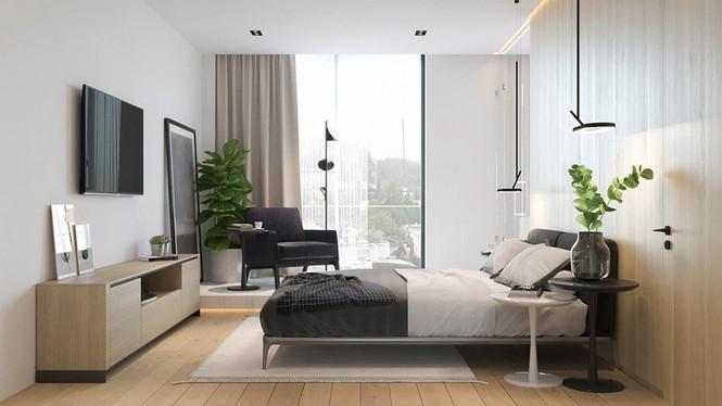 Căn hộ chung cư đẹp mỹ mãn nhờ nội thất gỗ biến tấu - Ảnh 8